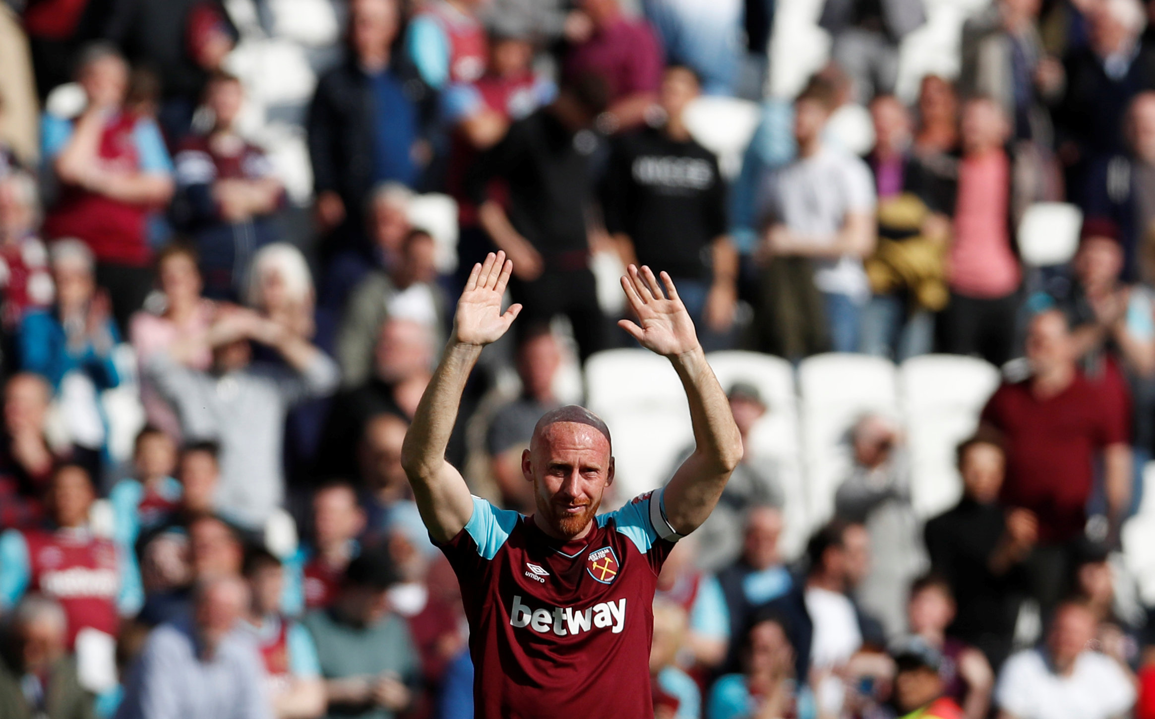 James Collins has confirmed his departure from West Ham. Picture: Action Images via Reuters.