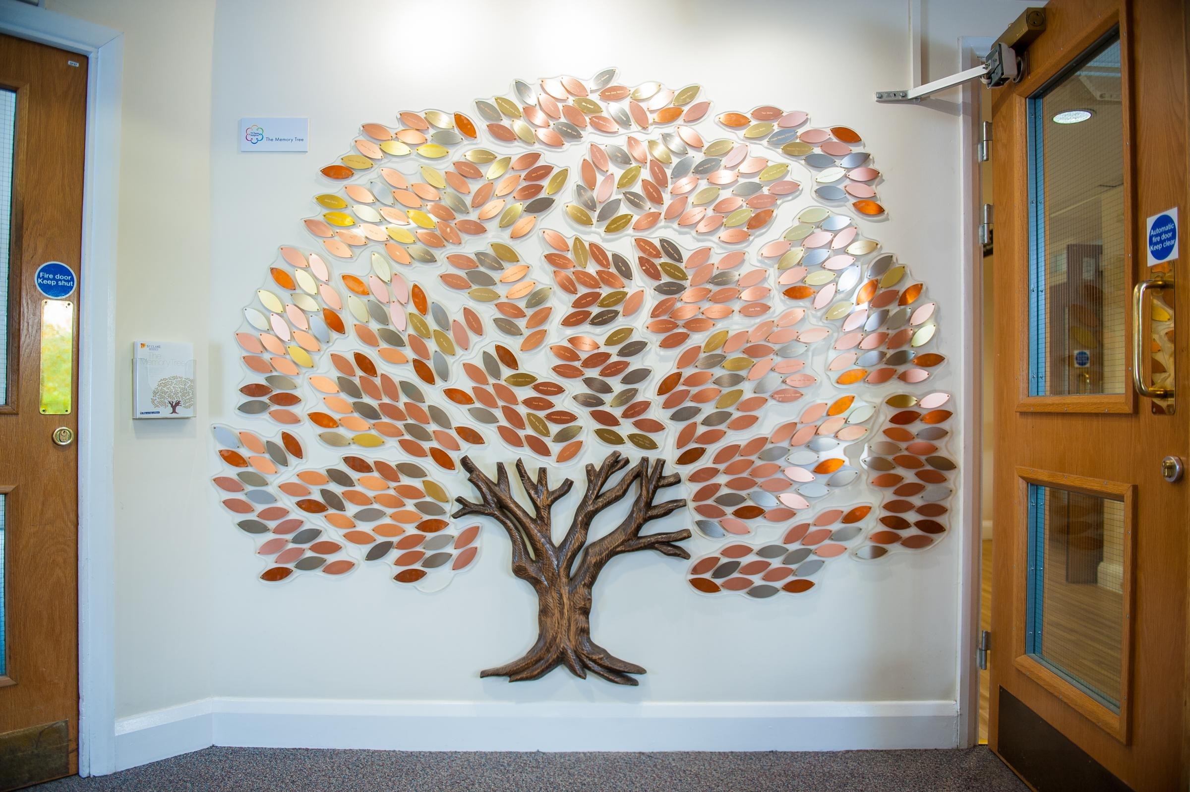 The Memory Tree sits at the heart of St Clare Hospice and offers the opportunity to make a beautiful tribute to a loved one's memory