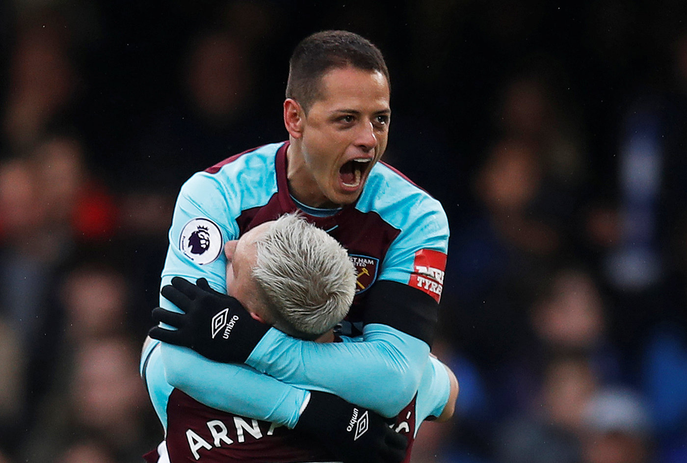 Will Javier Hernandez be celebrating scoring for the Hammers again next season? Picture: Action Images