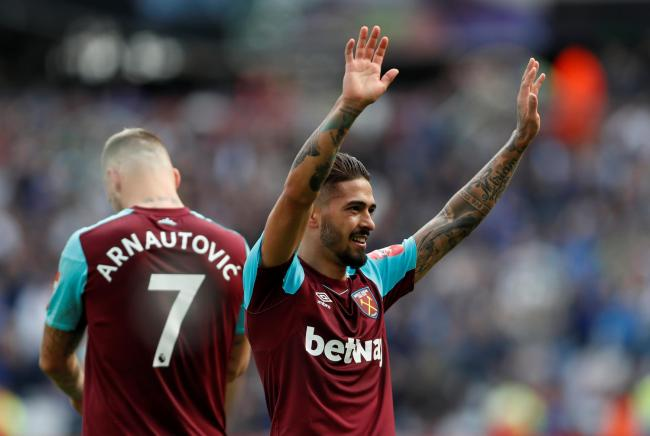 West Ham's Manuel Lanzini has reportedly been ruled out for 15 months through injury. Picture: Action Images.