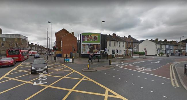Police tasered a naked man found brandishing a knife in Higham Hill Road, Walthamstow, on Sunday. Photo: Google Maps.