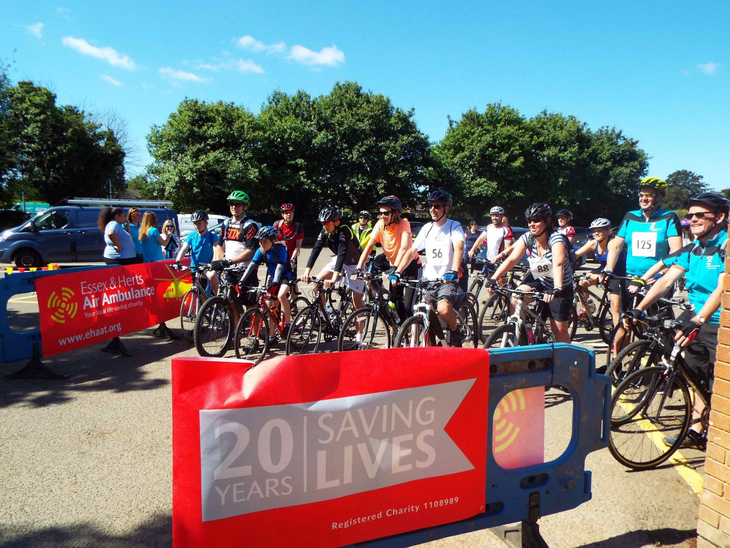 Last year's summer cycle in aid of the air ambulance