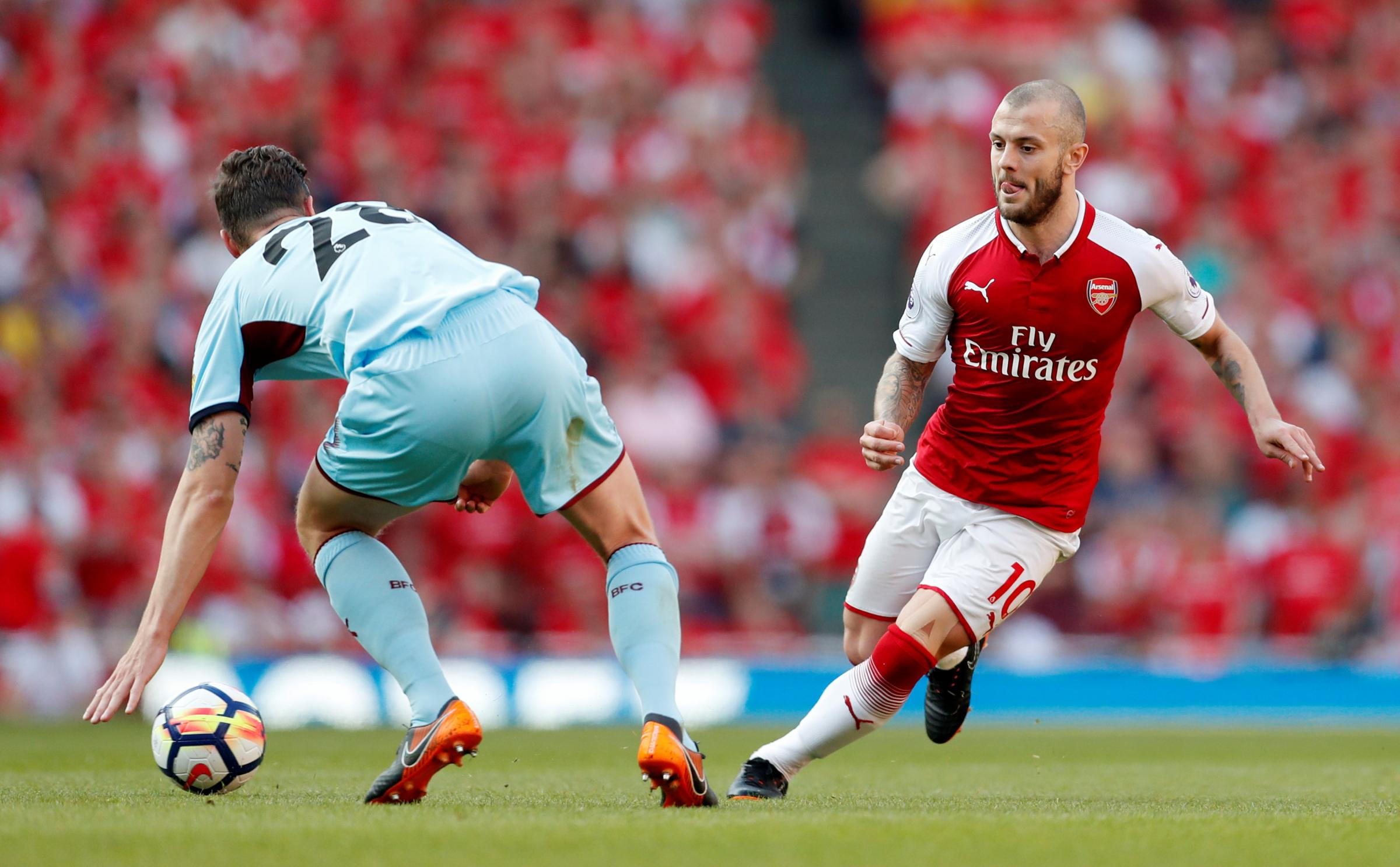 West Ham are reportedly one of a number of clubs who are interested in Arsenal's Jack Wilshere. Picture: Action Images