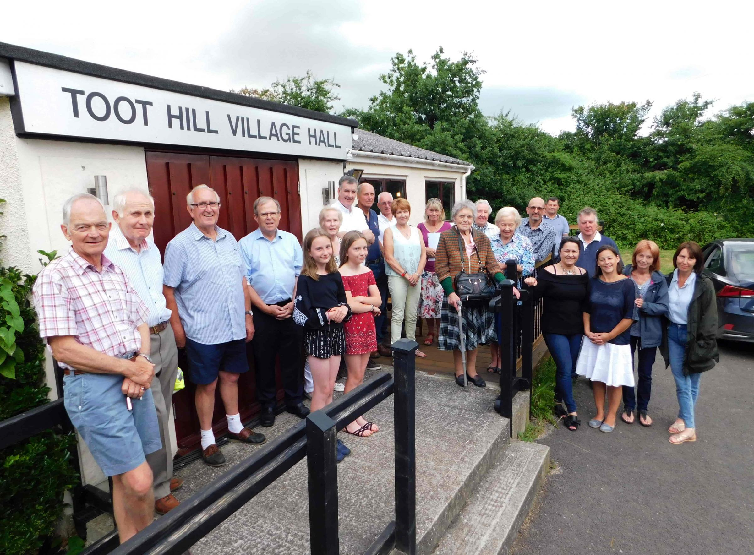 Celebrating the re-opening of Toot Hill Village Hall