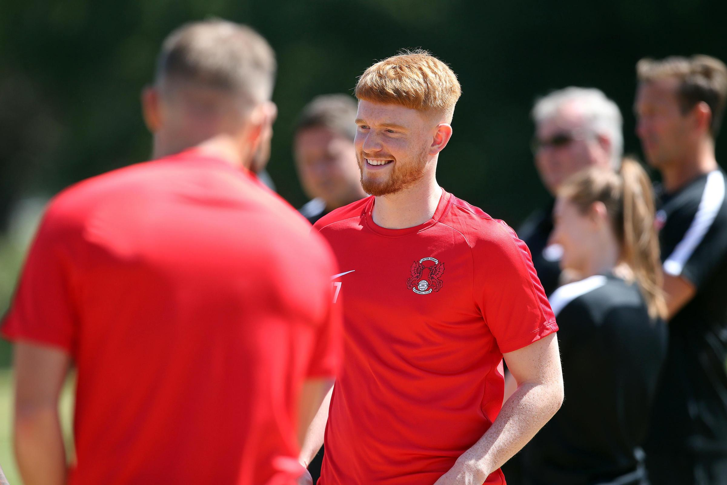 Dale Gorman is hoping to be fit for Leyton Orient's first match of the season against Salford City. Picture: Leyton Orient FC.