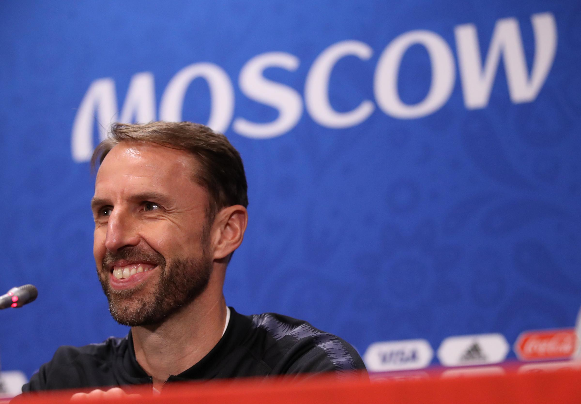Gareth Southgate facing the media ahead of tomorrow's semi-final. Picture: Action Images
