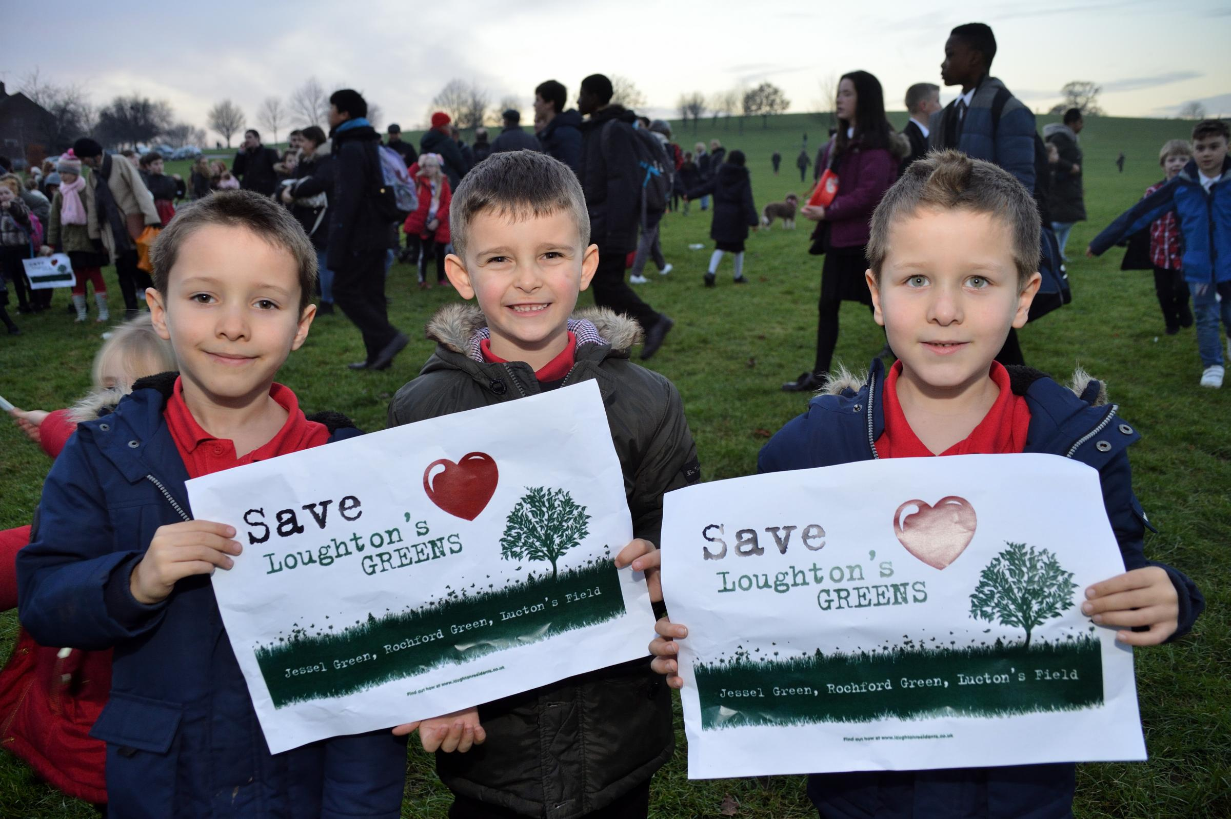 Local residents are campaigning to save Jessel Green in Debden/Loughton from development. Essex (19/12/2017) EL91760_14.