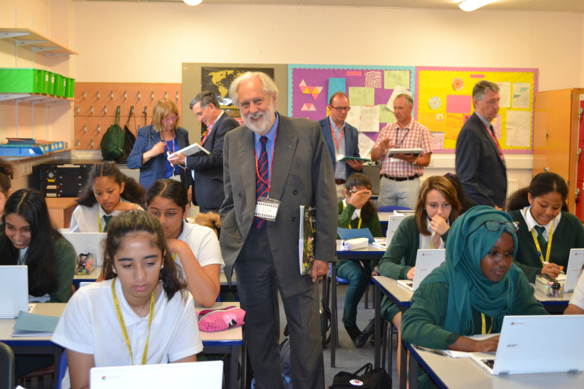 'A total knockout': Lord Puttnam praises girls' school for trialling pioneering teaching method