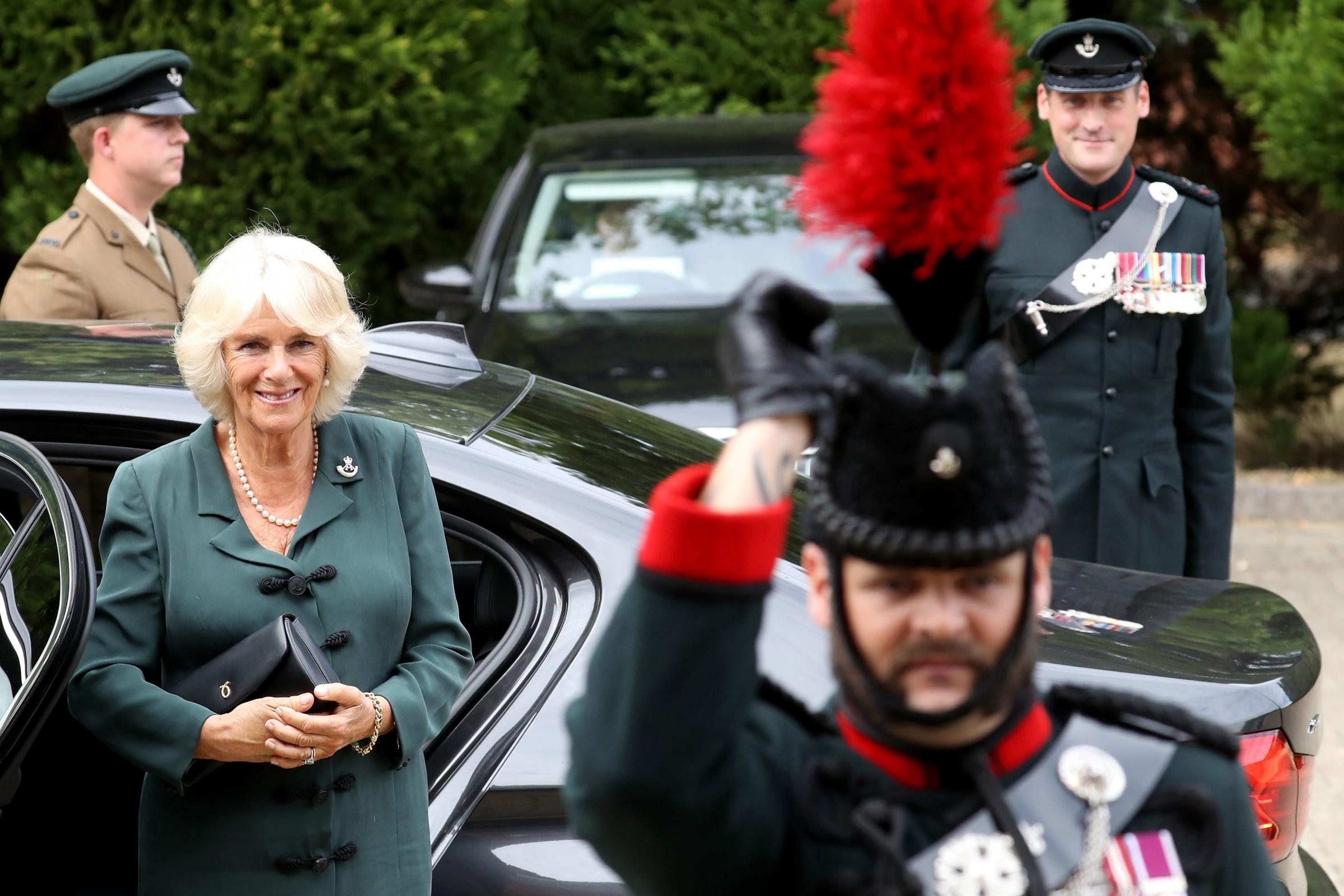 Duchess of Cornwall visits New Normandy Barracks