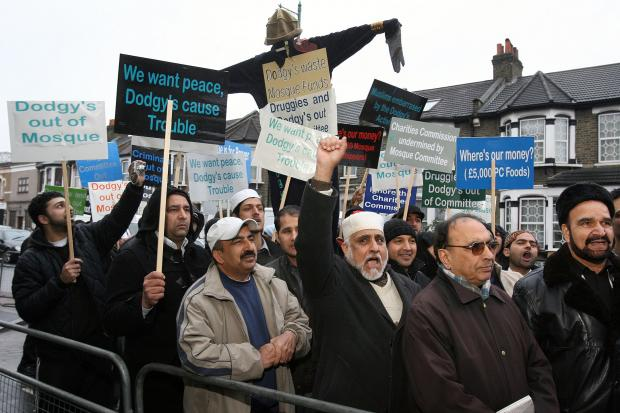 There have been long-running tensions at Lea Bridge Road Mosque