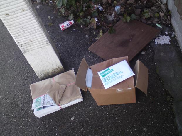 WALTHAMSTOW: Council anti-litter leaflets found dumped in street