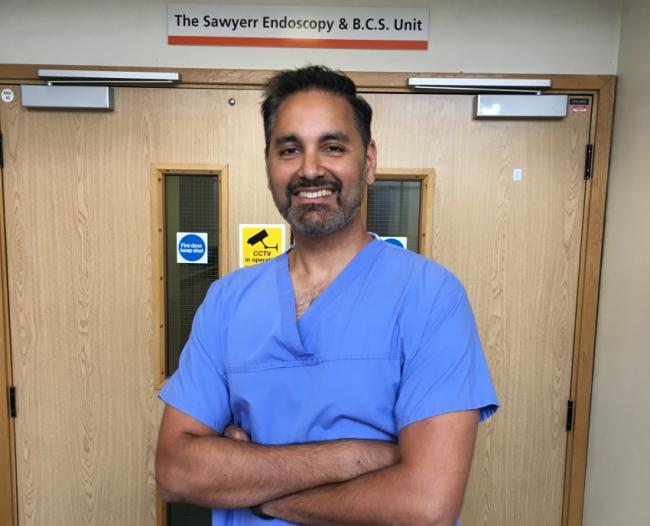 Dr Sudeep Tanwar is part of the Barts Health NHS Trust team treating patients with cholangiocarcinoma using a new method