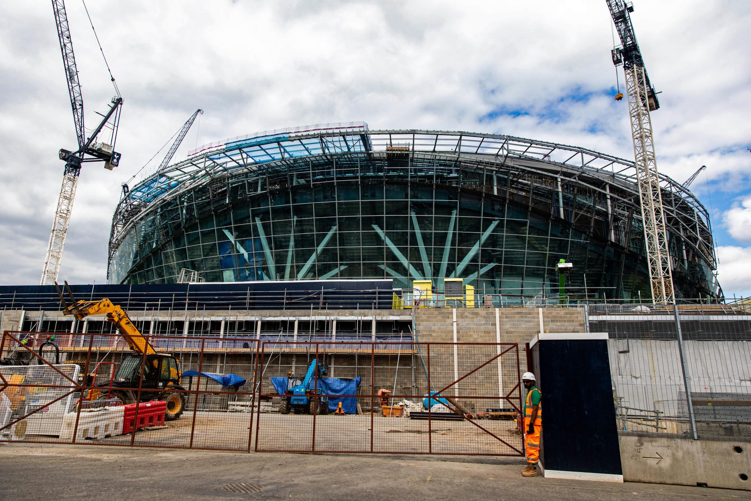 Construction work continues at Tottenham's new stadium. Picture: Steven Paston/PA Wire