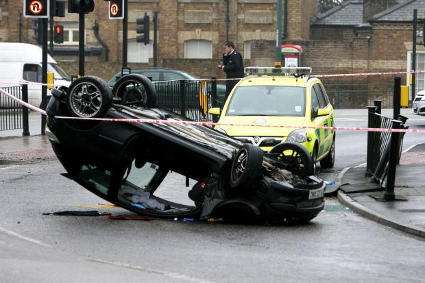 East London and West Essex Guardian Series: The crash scene in Bush Road Leytonstone