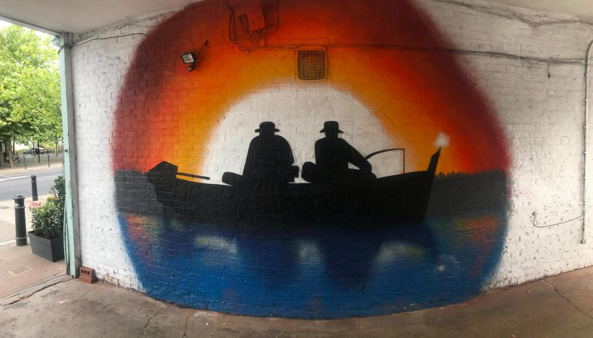 art trail kicks off with cool graffiti murals east london and west