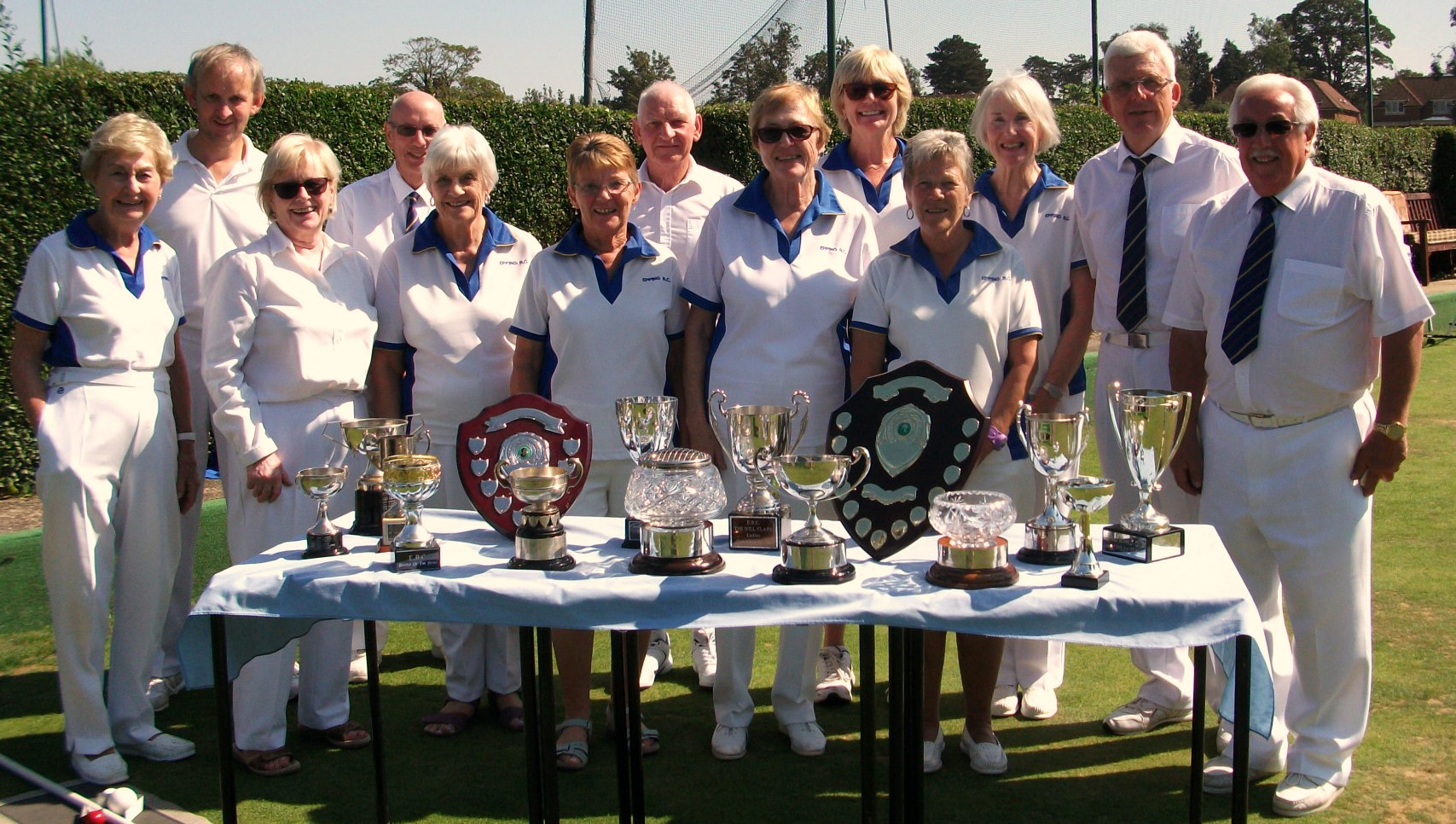 Epping Bowls Club members after a competitive final weekend of action.
