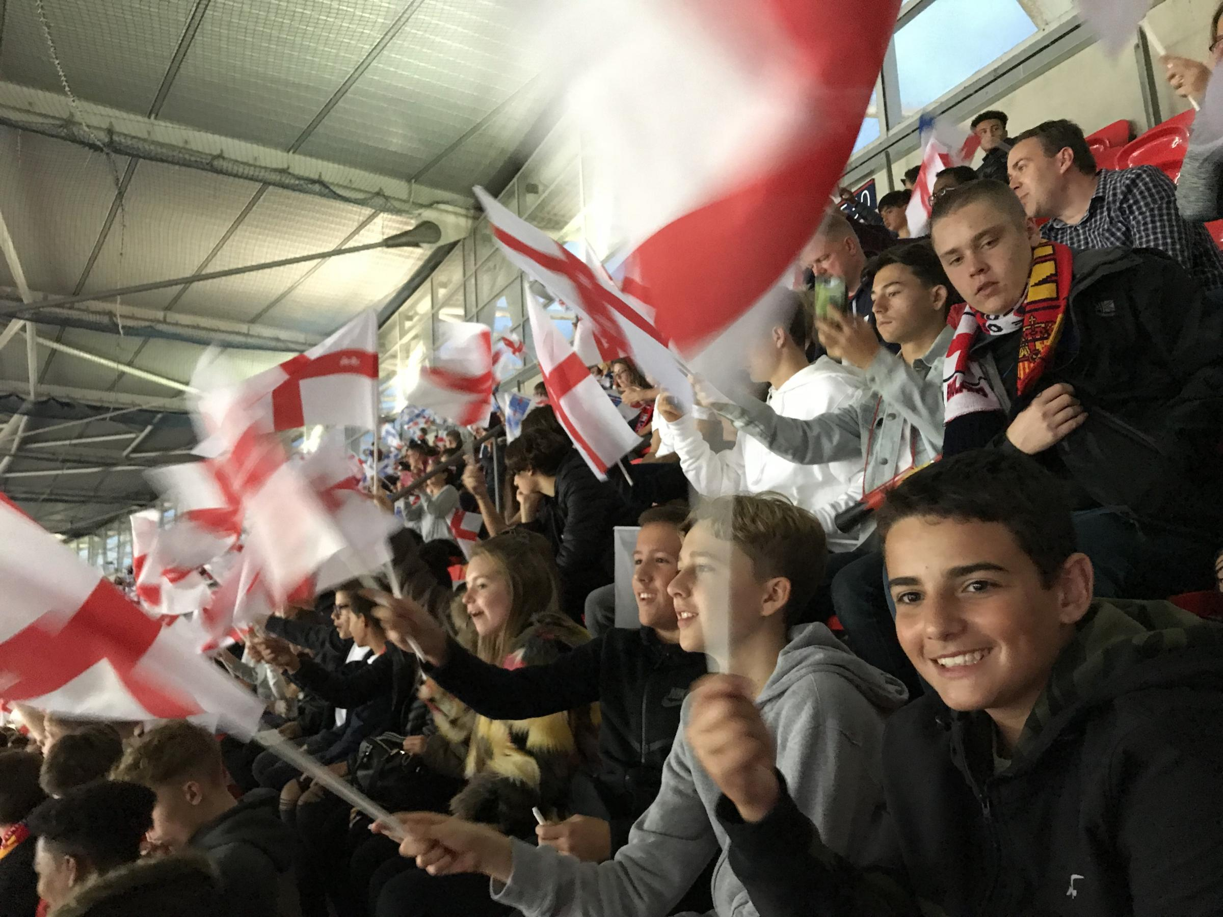 West Hatch High School pupils flying the flag for England