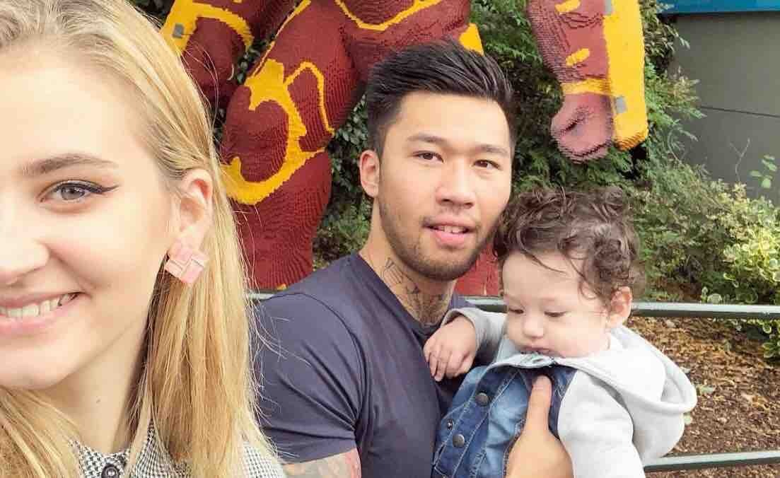 Adrian leaves behind girlfriend Adelina and baby Oliver