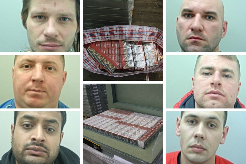 The gang of six men were jailed for a total of 10 years today