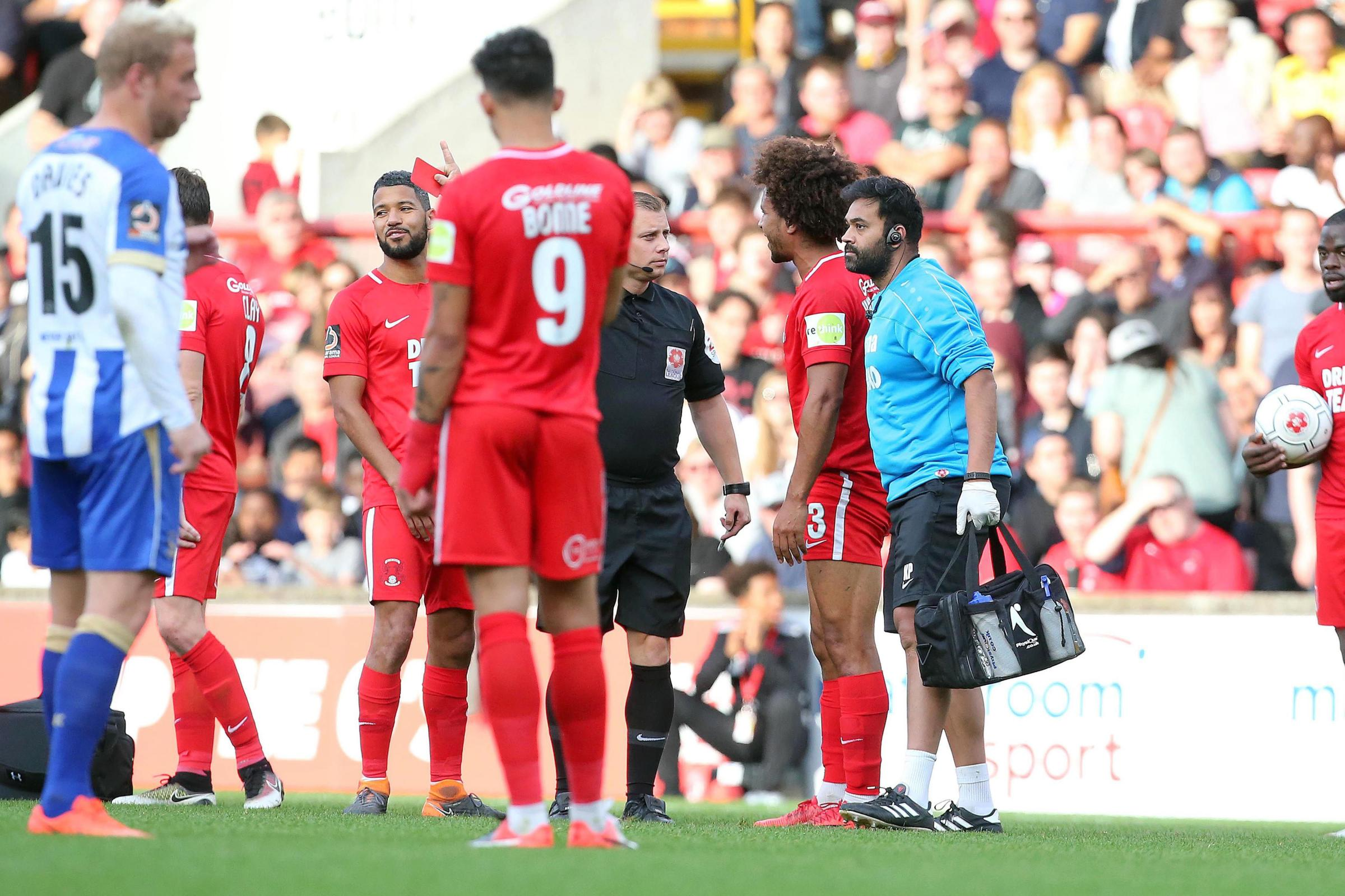 Leyton Orient will not be appealing Joe Widdowson's red card against Hartlepool United. Picture: Simon O'Connor.