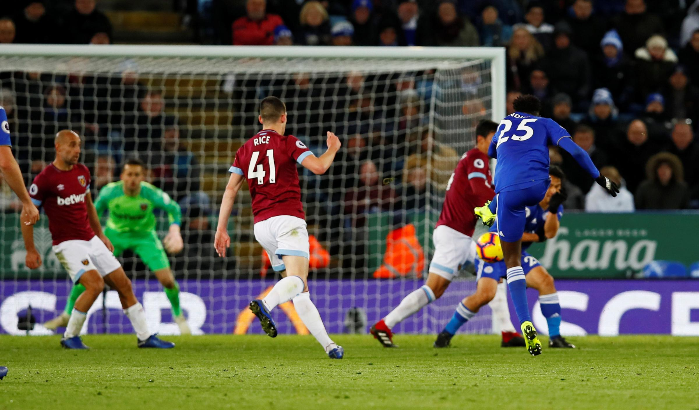 West Ham were pegged back by Wilfred Ndidi's late equaliser. Picture: Action Images