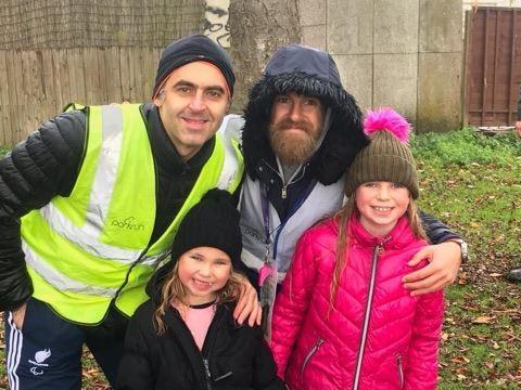 Ronnie O'Sullivan at the park run