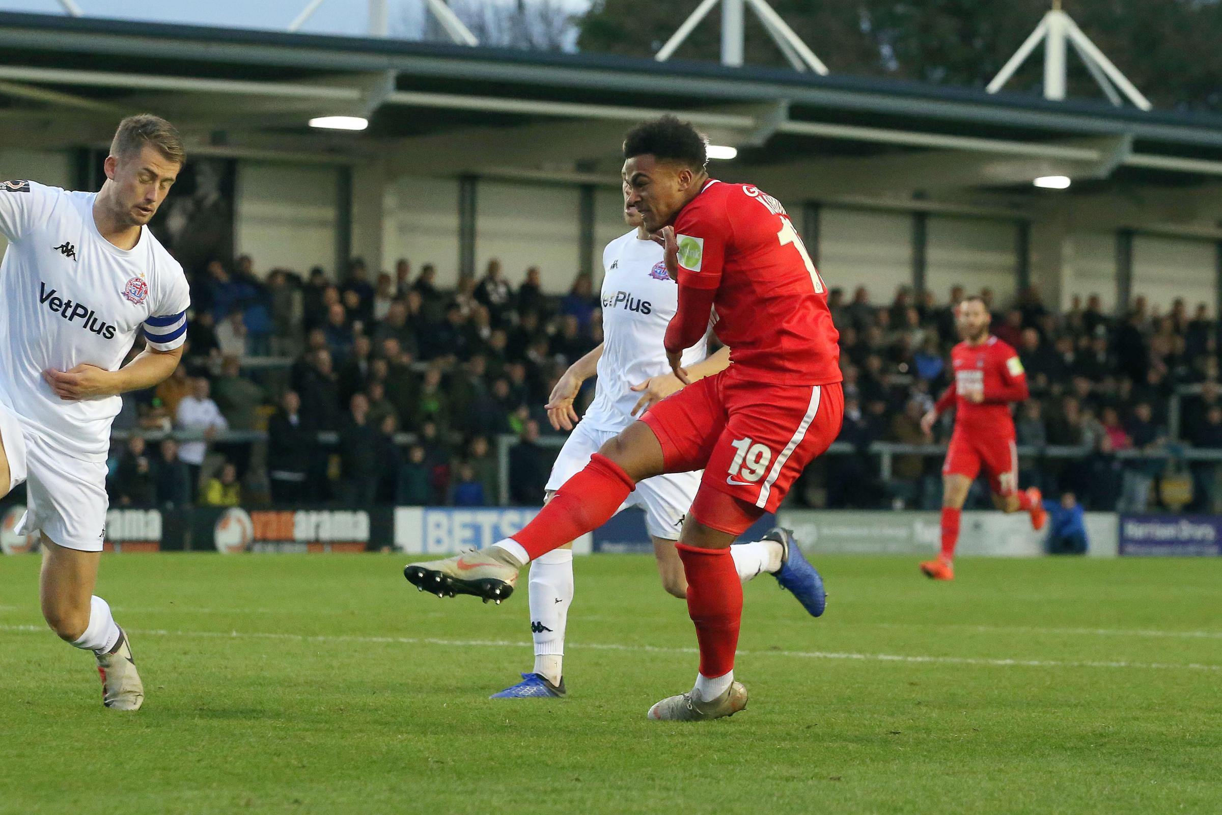 Josh Koroma made the breakthrough for the O's. Picture: Simon O'Connor