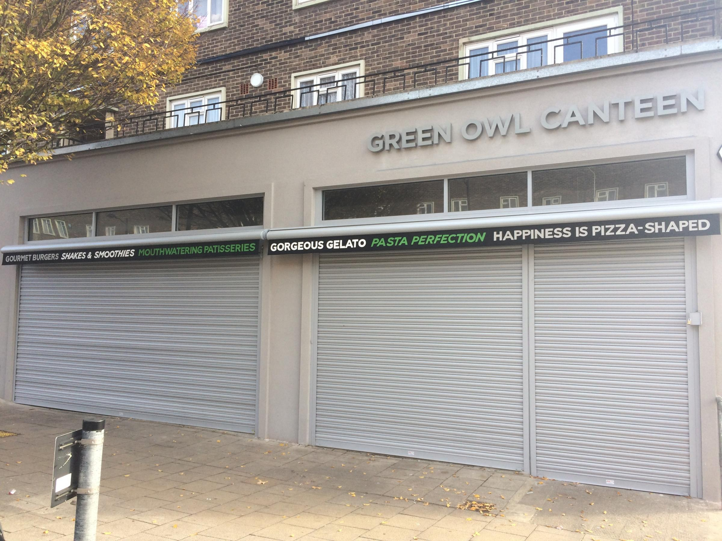 The Green Owl Canteen has ceased trading