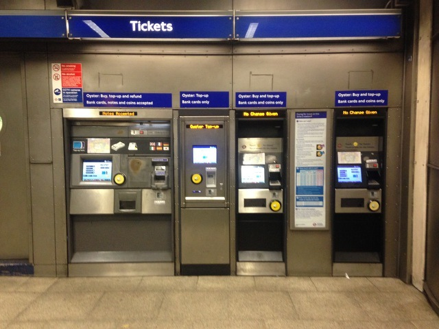Ticket machines are free at at least one underground station