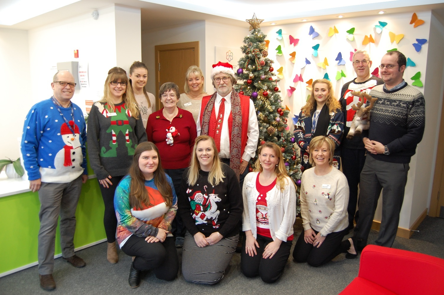 St Clare Hospice's Christmas jumper day