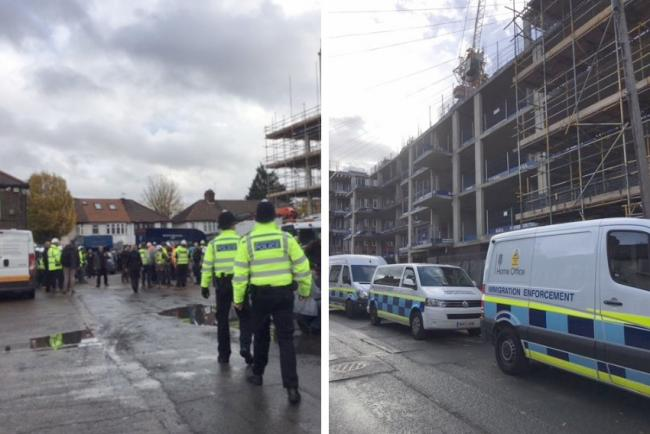 Police officers visited the building site on November 7. Photo: Lea Bridge Police