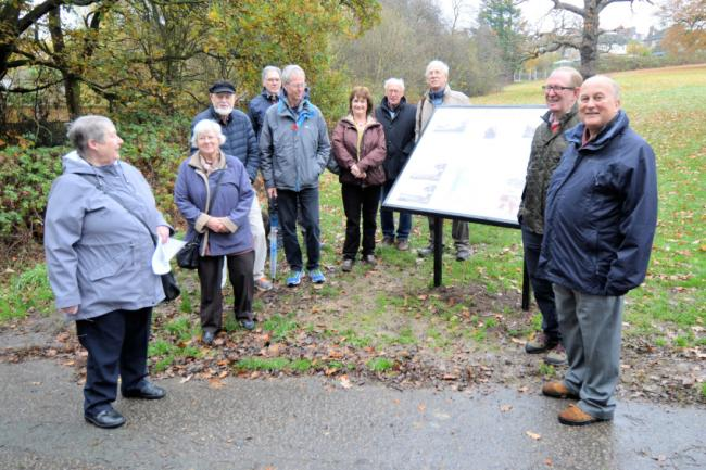 Historian Mary Dunhill was honoured at the unveiling of a heritage board in The Highams Park