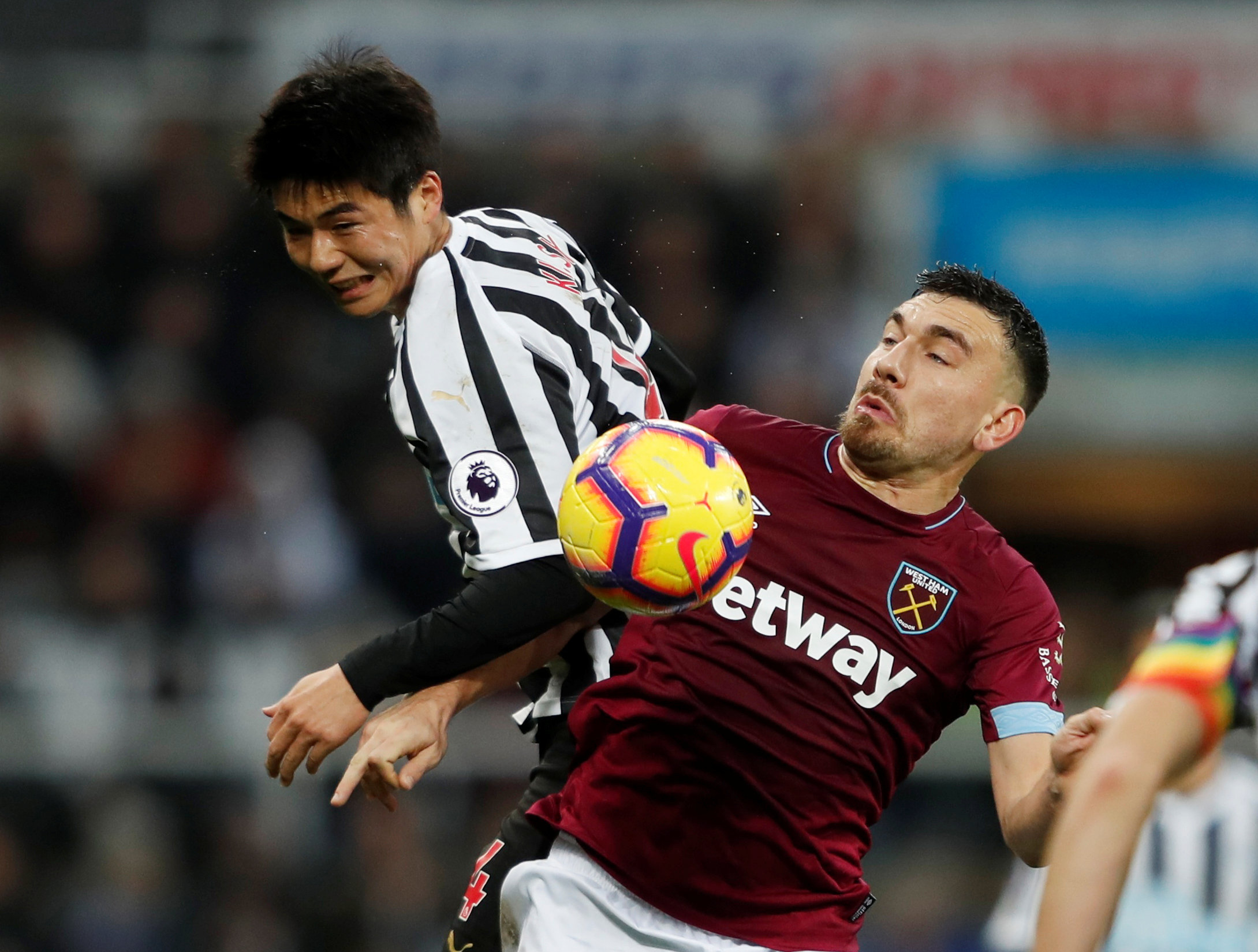 Robert Snodgrass in action in Saturday's victory at Newcastle. Picture: Action Images