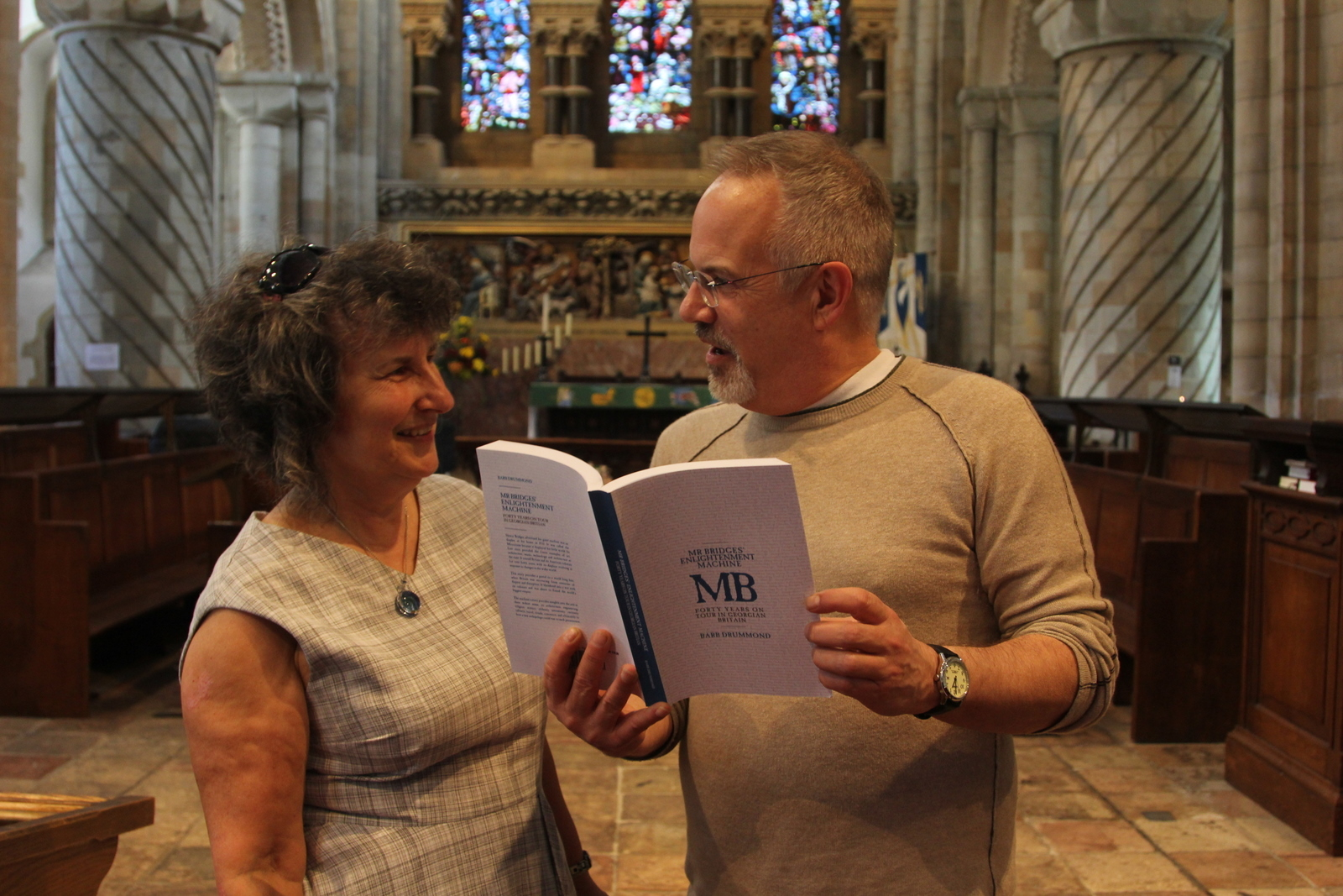 Barb Drummond with Waltham Abbey Church Reverend Peter Smith