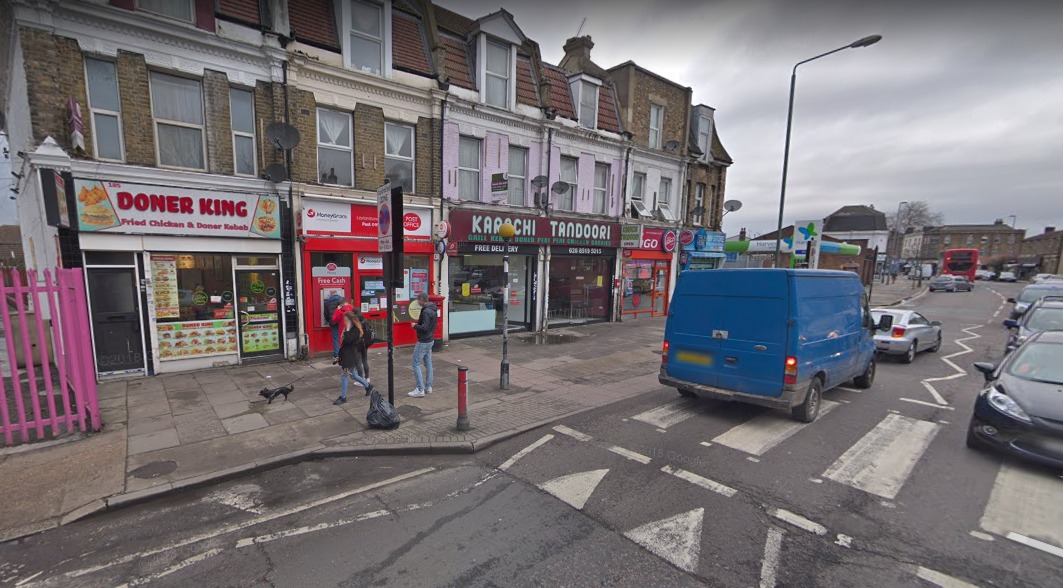 A woman was assaulted and robbed while drawing out money at this ATM near a post office in Leytonstone Road. Photo: Google Maps