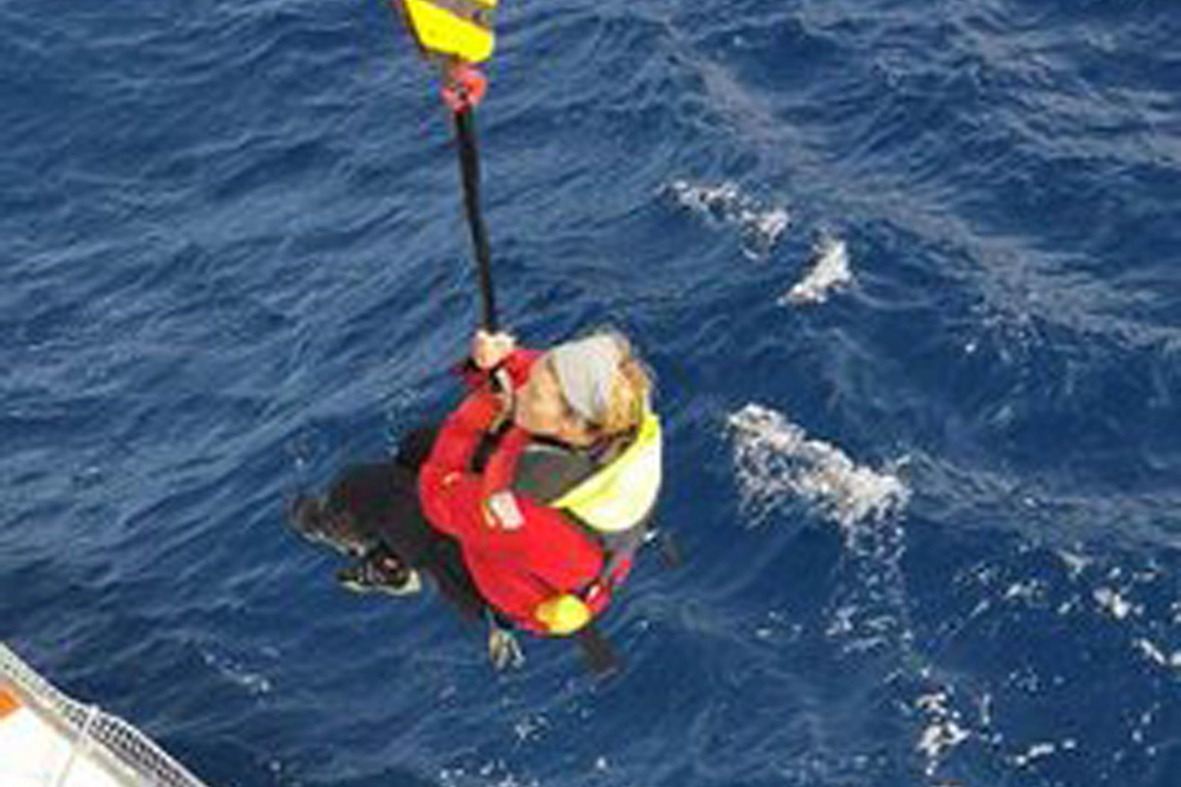 Susie Goodall being rescued