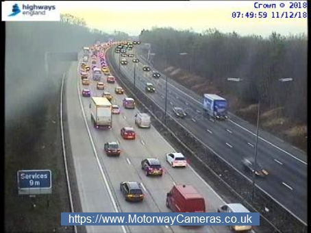 Traffic is slowing on the M1 southbound. Picture: Highways England