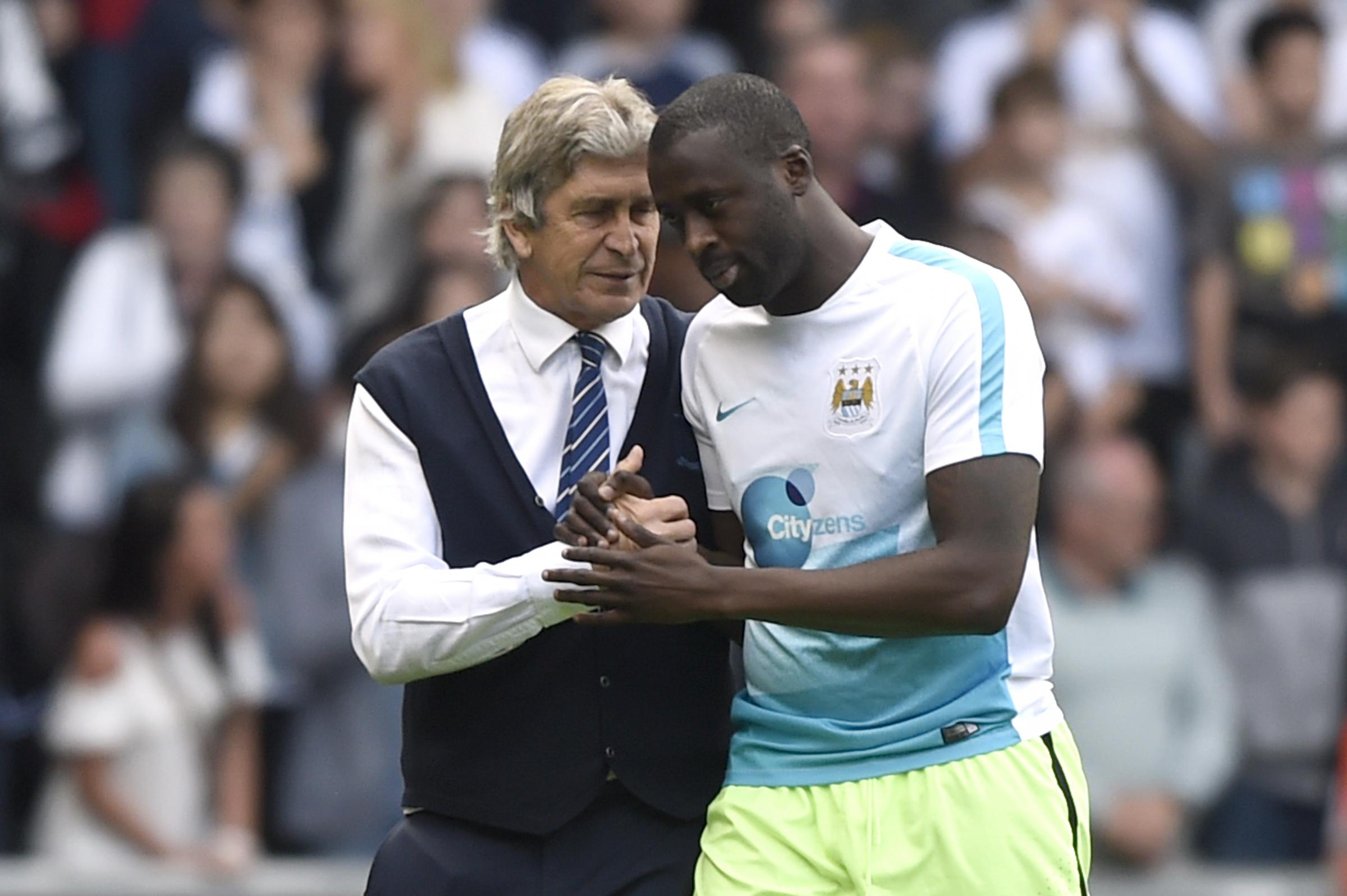 Manuel Pellegrini says he is not thinking about a move for Yaya Toure. Picture: Action Images