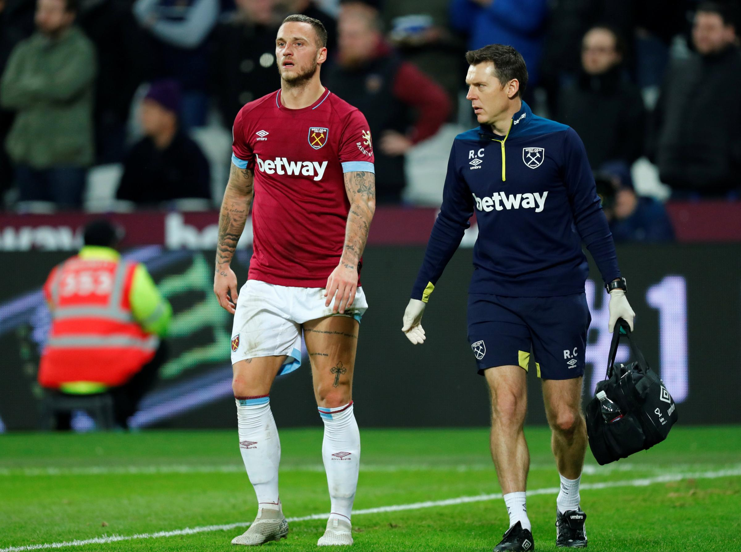 Marko Arnautovic has been sidelined since the start of the month. Picture: Action Images