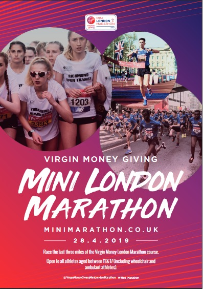 Virgin Money Giving Mini London Marathan poster