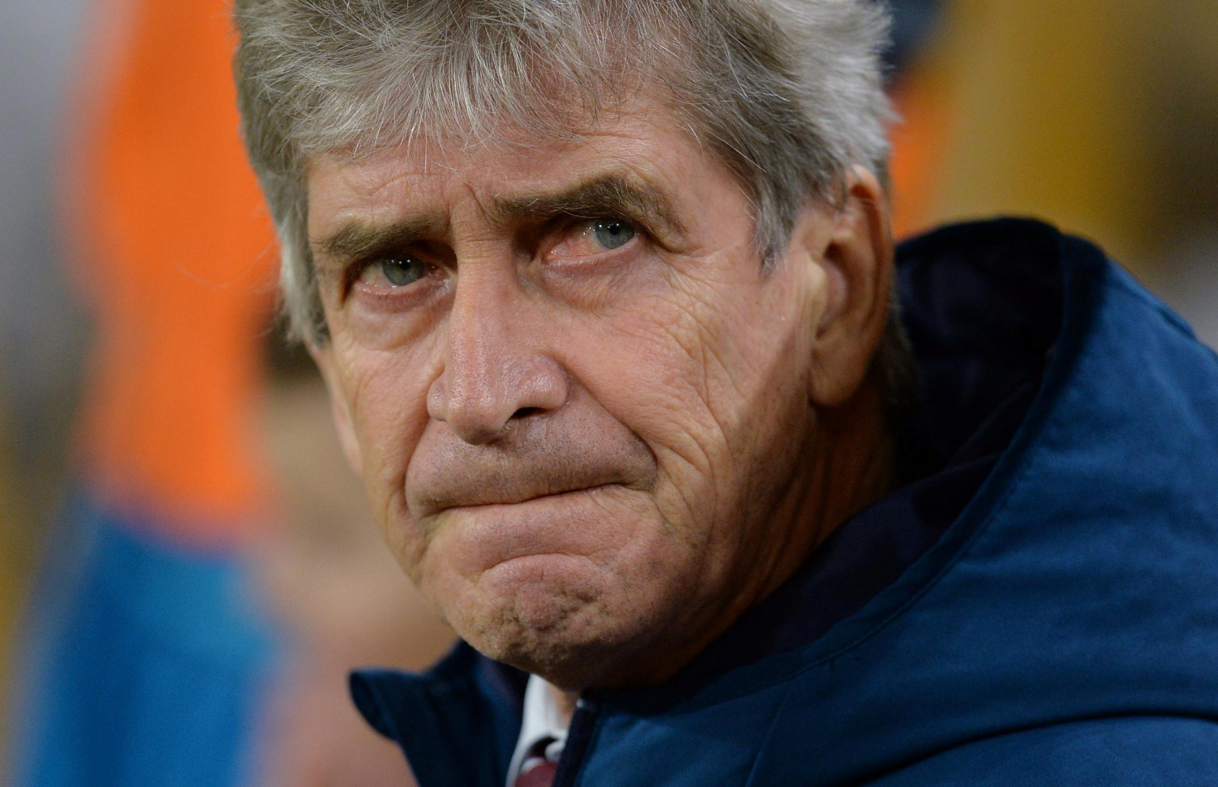 Manuel Pellegrini is also hoping to do Manchester City a favour tonight. Picture: Action Images