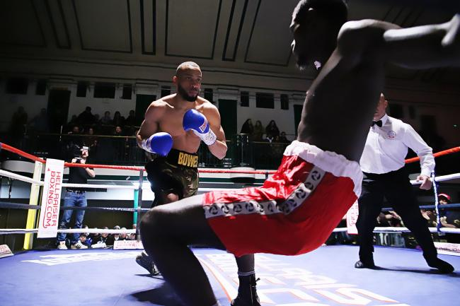 Philip Bowes' scheduled bout against Iddi Mkwera has been cancelled.