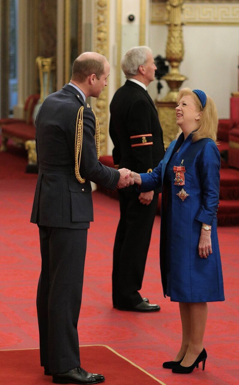Dame Eleanor Laing recieives title from HRH the Duke of Cambridge
