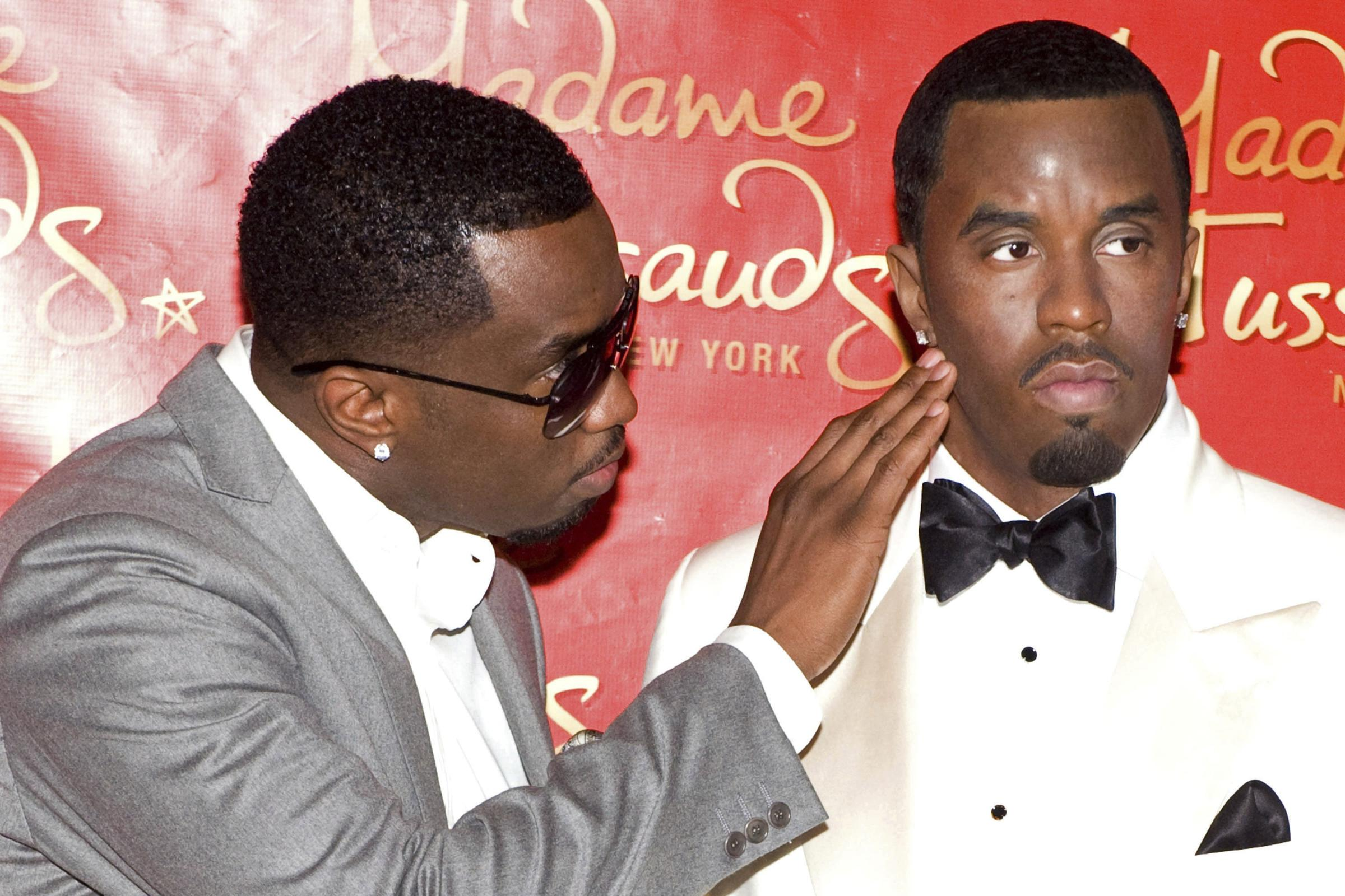 Sean 'Diddy' Combs unveiling his wax figure at Madame Tussauds in New York