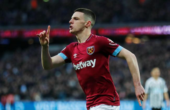 Declan Rice is now eligible to play for England. Picture: Action Images