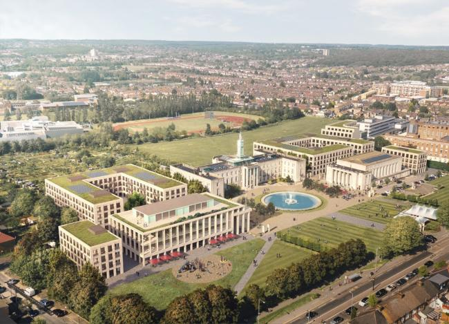 The newly revised plans will include more homes and flexible office spaces