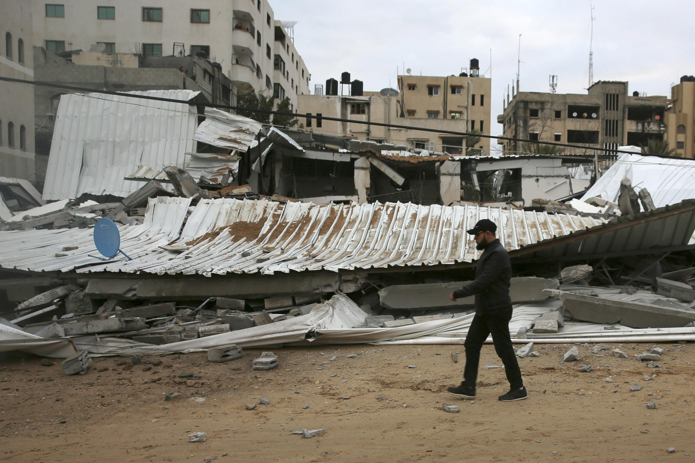 Destroyed buildings in Gaza City