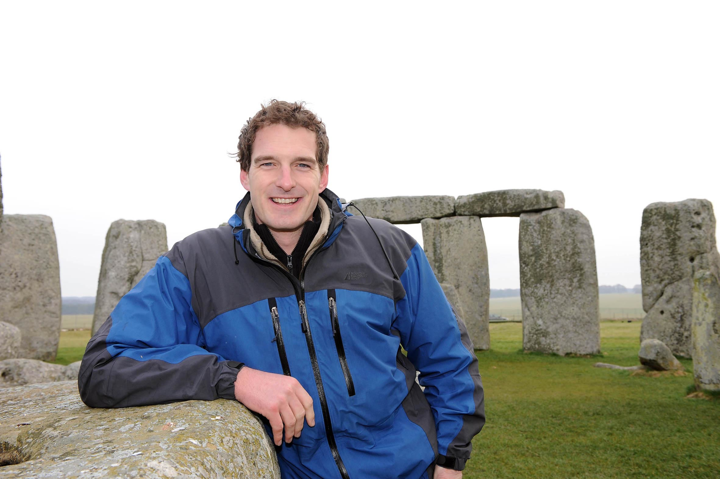 Dan Snow presenting at Stonehenge for the Spring Solstice