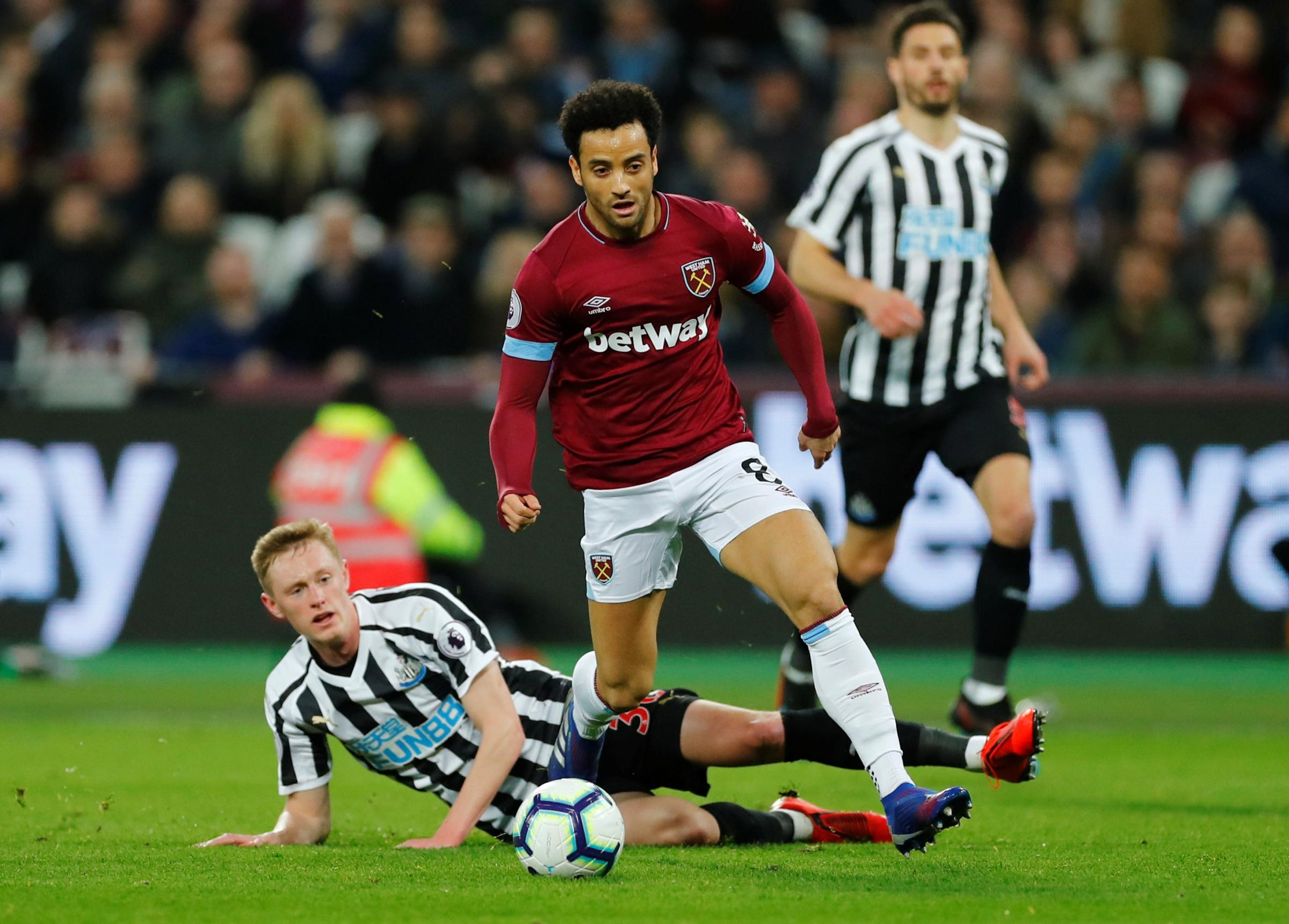Felipe Anderson could return against Chelsea on Monday. Picture: Action Images
