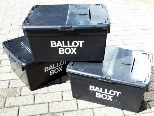 BALLOT BOXES WITH MIKE LOVELADY - A VERY RETURNING OFFICER.